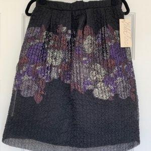 Lela Rose Textured Black Full Skirt - Size 6 - NWT